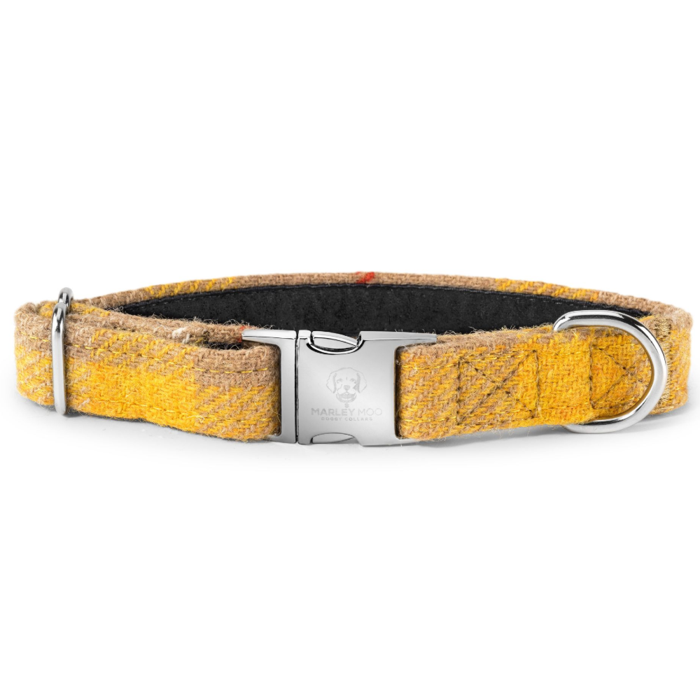 'Butterscotch' Harris Tweed Dog Collar