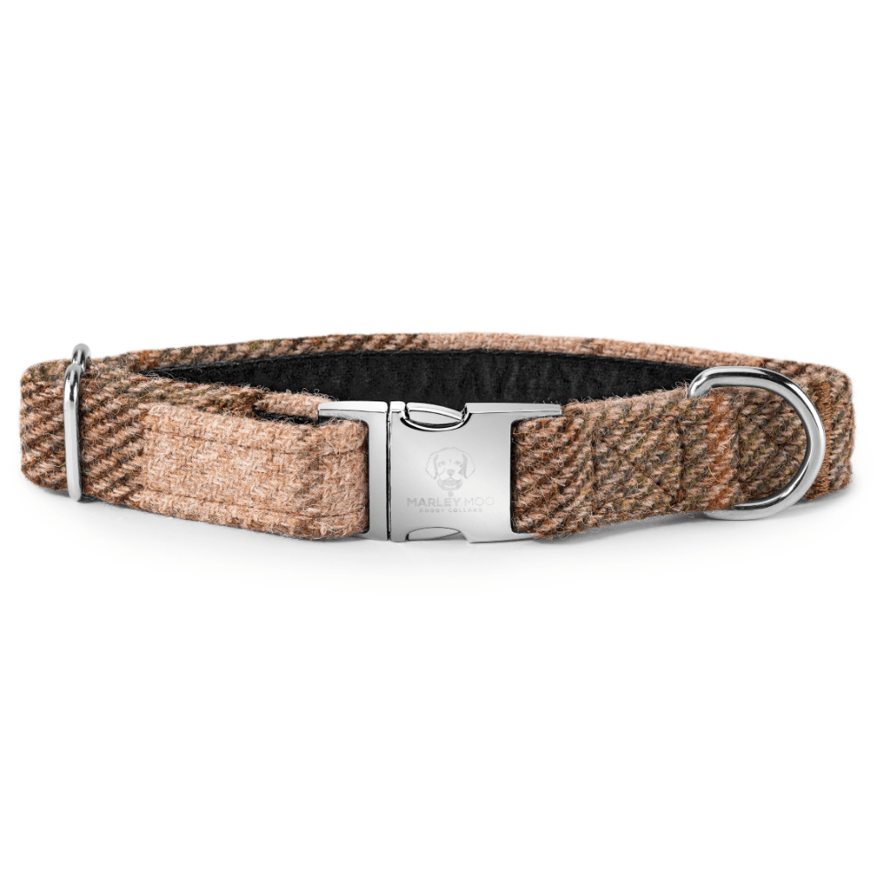 'The Red Grouse' Tweed Dog Collar